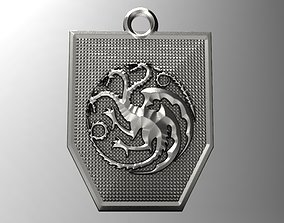 Game of thrones Targaryen pendant 2 3D printable model
