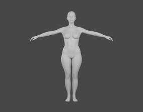 human 3D Female Base mesh