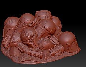 Mandalorian Armor Pile Stylus Holder 3D print model