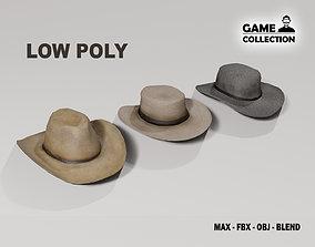 Western Hats 3D asset