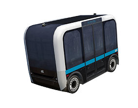 Driverless shuttle Olli low poly model VR / AR ready