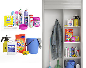 Household Cleaning Supplies Kit 01 3D model