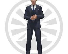 Chris Pine 3D model rigged
