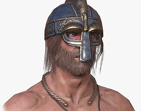 3D asset Lowpoly Viking Berserker