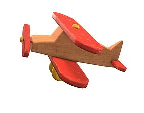 Old Toy Airplane 3D model