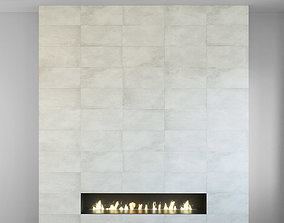3D model Wall Panel Set 122 Fireplace