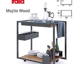 Mojito wood Cattelan Italia 3D model furniture