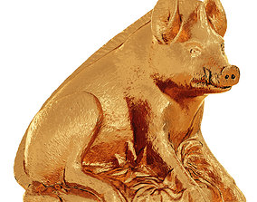 3D model Gold Boar Figurine