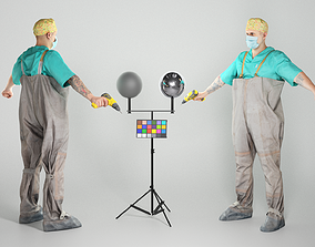 3D asset Doctor-killer with a drill 50