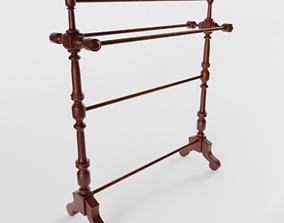 3D Victorian Mahogany Towel Rail