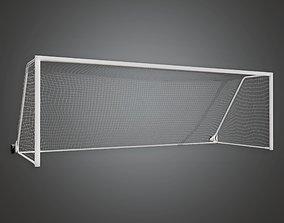 3D asset SAG - Soccer Goal 01a - PBR Game Ready