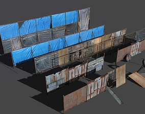 3D asset VR / AR ready Fences pack