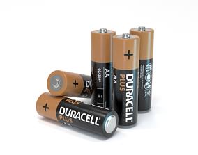 Duracell AA Battery 3D model