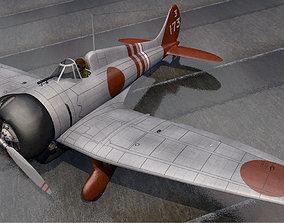 3D model military Mitsubishi A5M2 Claude