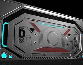 Sci Fi Door 3D bio-hazard