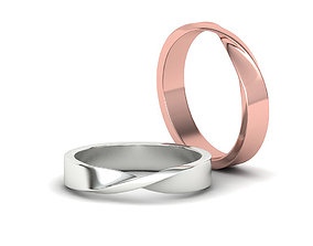 Mobius Wedding Ring 4mm wide band 3dmodel