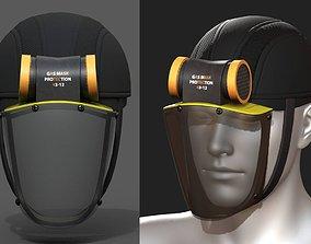 Gas mask helmet 3d model military combat realtime
