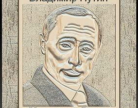 3D print model Vladimir Putin for Embossing Hot foil