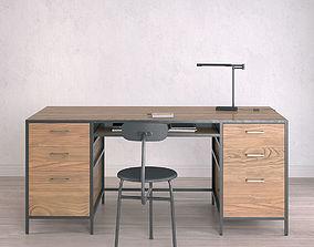 3D model Work Desk Industrial Big