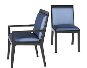 3D asset Stiletto dinning chair and armchair by Holly Hunt