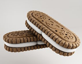 3D Biscuit realistic