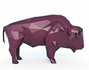 3D model Bison Low Poly