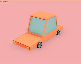3D model Toon Car VERY LOW POLY