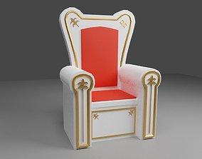 White Throne - Trono Branco - King 3D model