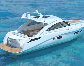 Searay Sundancer 540 2012 full interior 3D