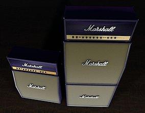 Marshall purple Stack 3D model