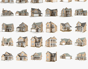 Hi-poly cottages mega pack 2 3D