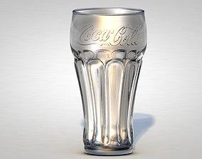 glass Coca-Cola Glass 3D