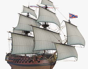 Third Rate ship of the line Ingermanland 3D model