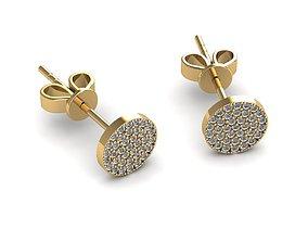 3D print model diamond Earrings