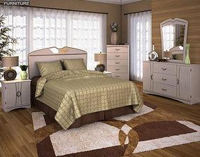 Ashley Havianna Panel Bedroom Set 3D asset