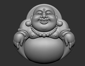 asian 3D print model Maitreya Buddha