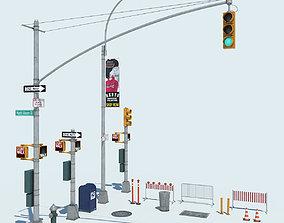 NYC Street Elements 3D model