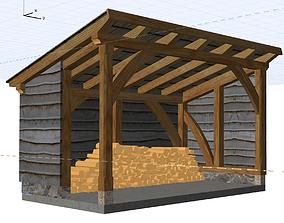 Firewood store 3D model