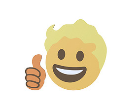 3D model Vault Boy emoji