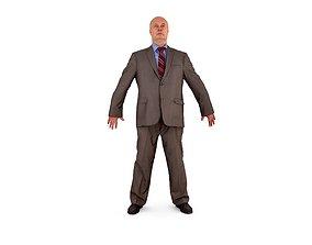 Business Human A-Pose 3D asset realtime