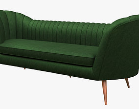 3D model low-poly PBR Couch