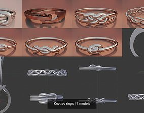 3D model Knotted rings