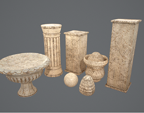 3D model game-ready Ornaments