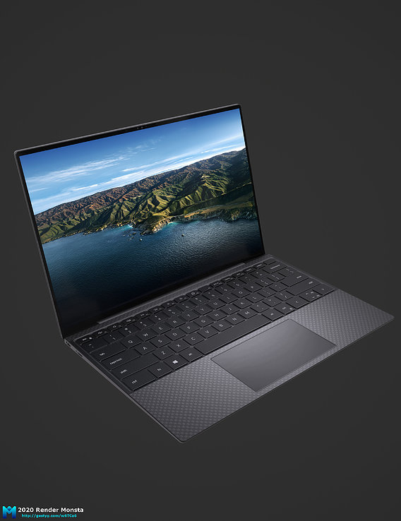 2021 dell xps 13 pbr game asset