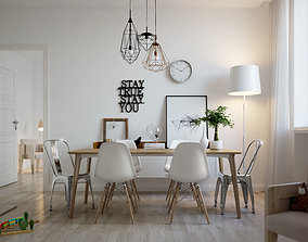 3D light Scandinavian Interior