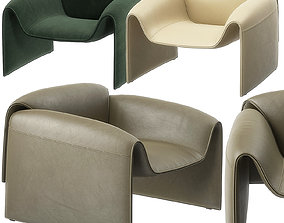 3D Le Club armchair by Poliform
