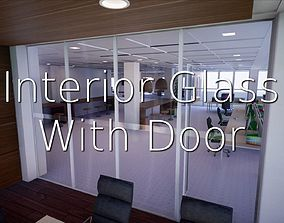 Interior Glass With Door SHC Quick Office LM 3D model