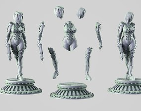 3D printable model Sci-fi Girl 54mm