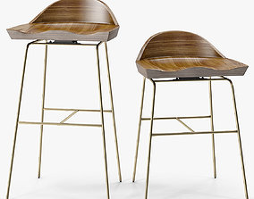 3D model Bassam Fellows Spindle Low Back Stools