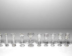 3D Wine Glasses Ver 2